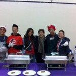 Leaders Serving Breakfast At Relay's Breakfast With Santa