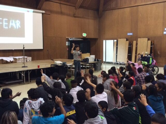 Sharing Success Character Talk at Mare Island Health & Fitness Academy