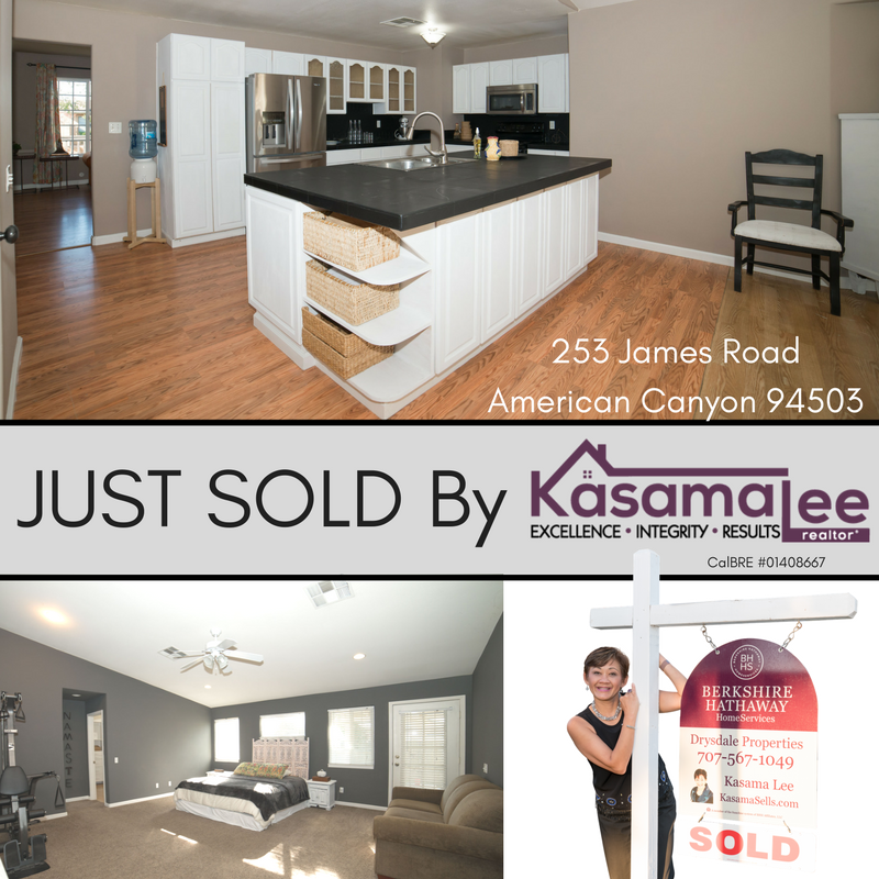 JUST SOLD! 253 James Road, American Canyon 94503