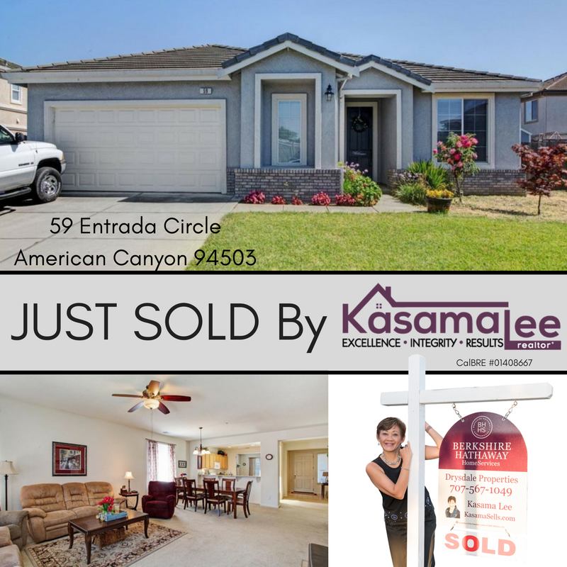 JUST SOLD- 59 Entrada Circle, American Canyon 94503
