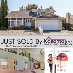 JUST SOLD- 806 Vintage Ave, Fairfield 94534