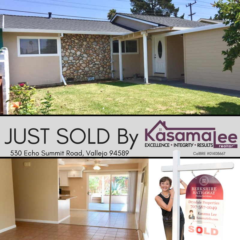 JUST SOLD- 530 Echo Summit Road, Vallejo 94589