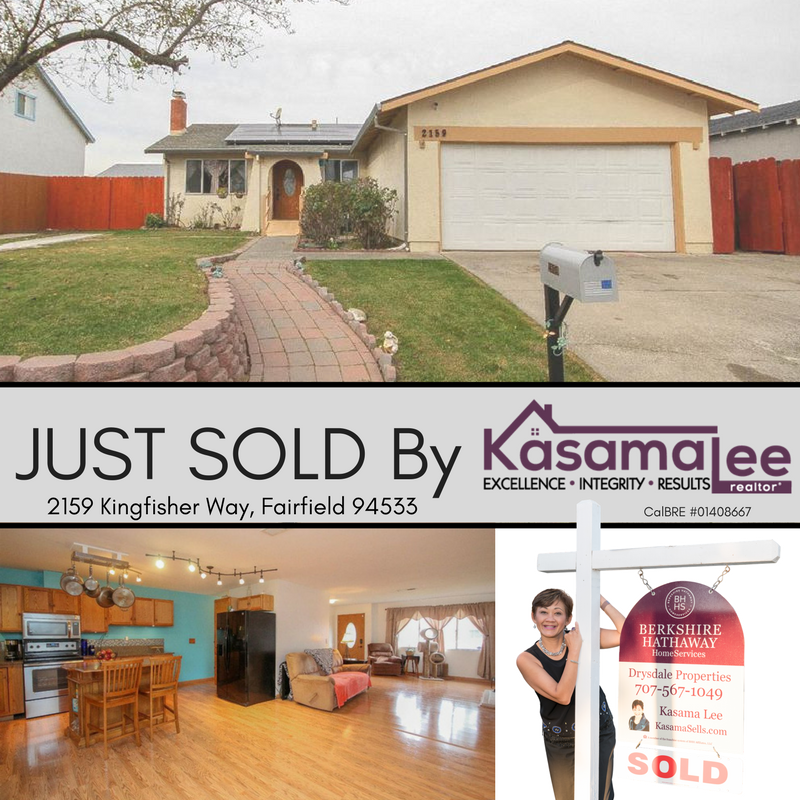 JUST SOLD- 2159 Kingfisher Way, Fairfield 94533
