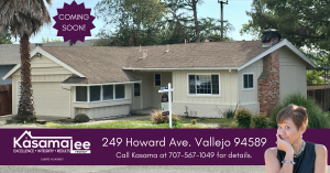 COMING SOON- 249 Howard Ave. Vallejo, CA 94589