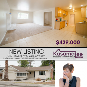 JUST LISTED- 249 Howard Ave. Vallejo 94589