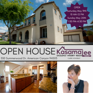 OPEN HOUSE-330 Summerwood Dr. American Canyon 94503