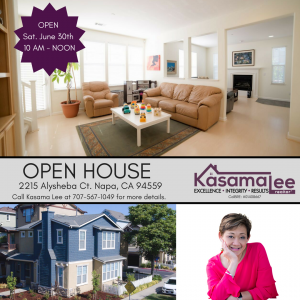 OPEN HOUSE-2215 Alysheba Ct. Napa, CA 94559