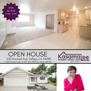 Open House this weekend! 249 Howard Ave. Vallejo CA 94589