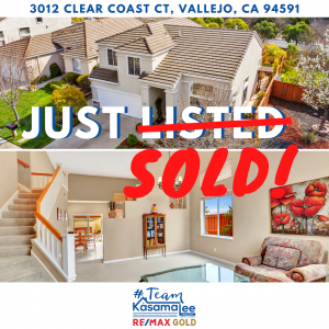 Just SOLD – Clear Coast Ct, Vallejo